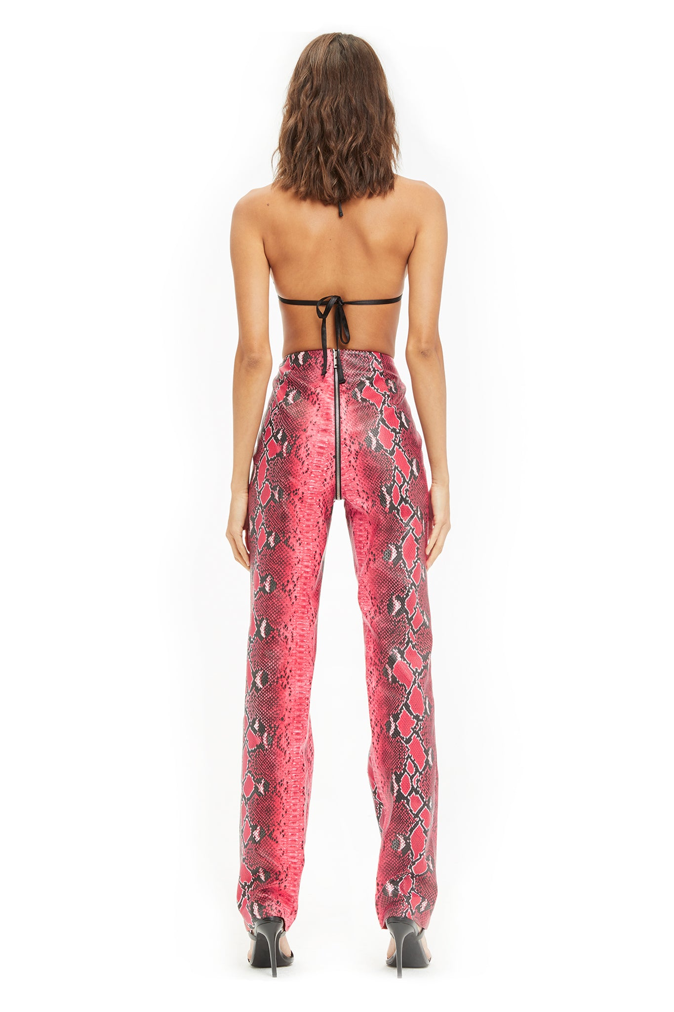 PRE-ORDER ANET PANT - RED SNAKESKIN (SHIPPING LATE SEPTEMBER)