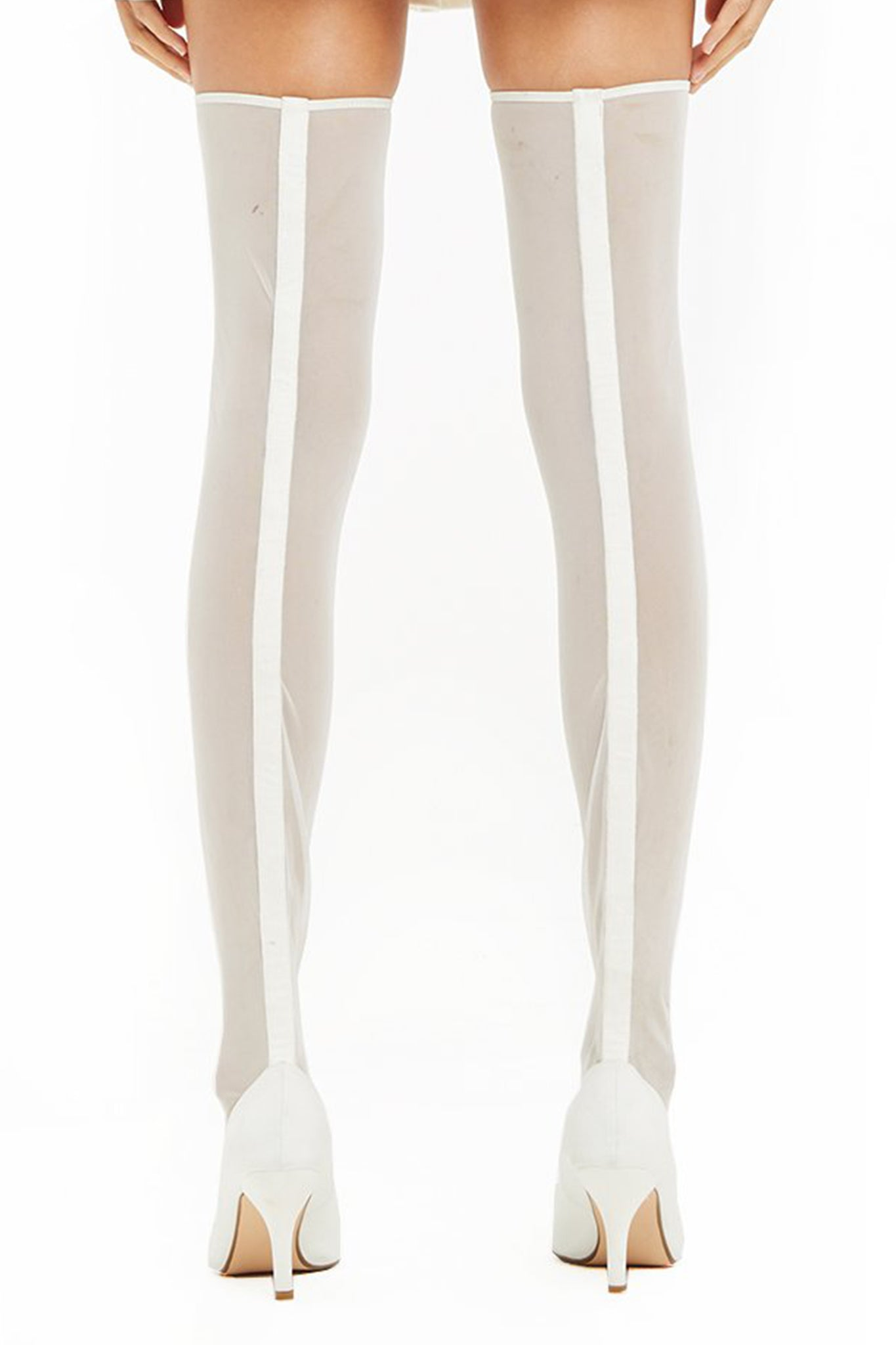 SASHA MESH THIGH HIGH BOOT