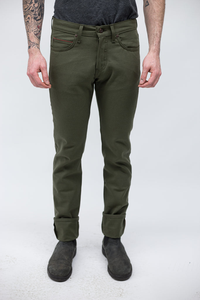 Super Guy Duck Selvedge - Army Green