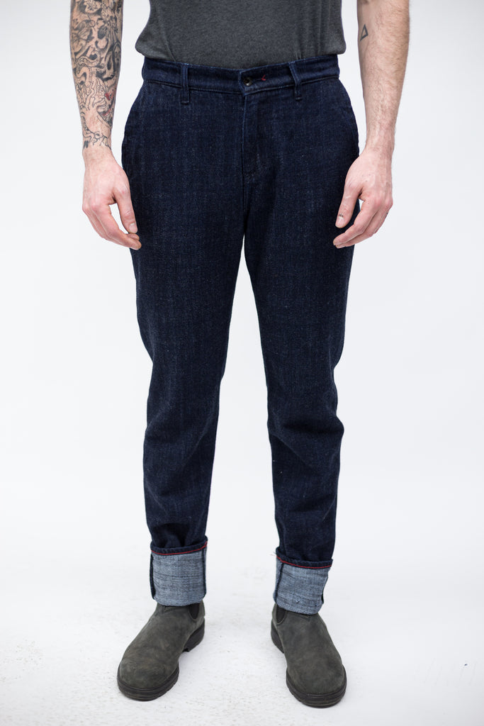Raleigh Denim Workshop Graham Trouser - Indigo Nomad