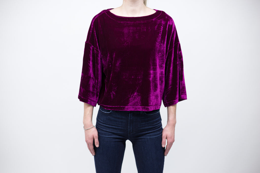 Cupcakes and Cashmere – Leiden Velvet Top
