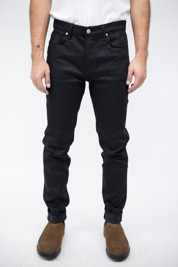 Baldwin – Modern Skinny Black Stretch Selvedge