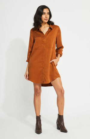 AIDEN DRESS | OCHRE