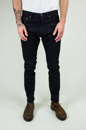 12OZ STRETCH RELAX TAPERED | DOUBLE BLACK