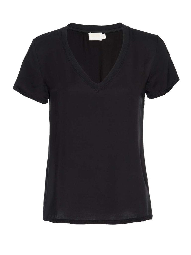 June Sateen V neck