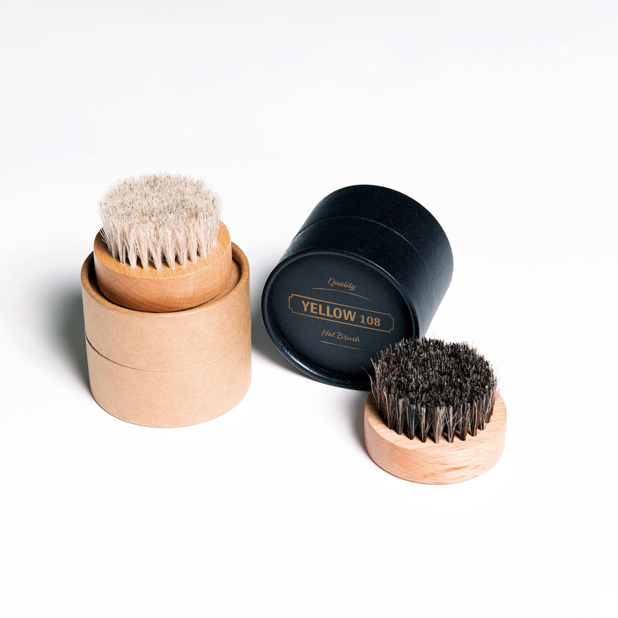 Horse Hair Hat Brush - Light
