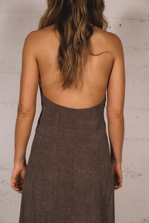 HALTER DRESS MINI SPOT