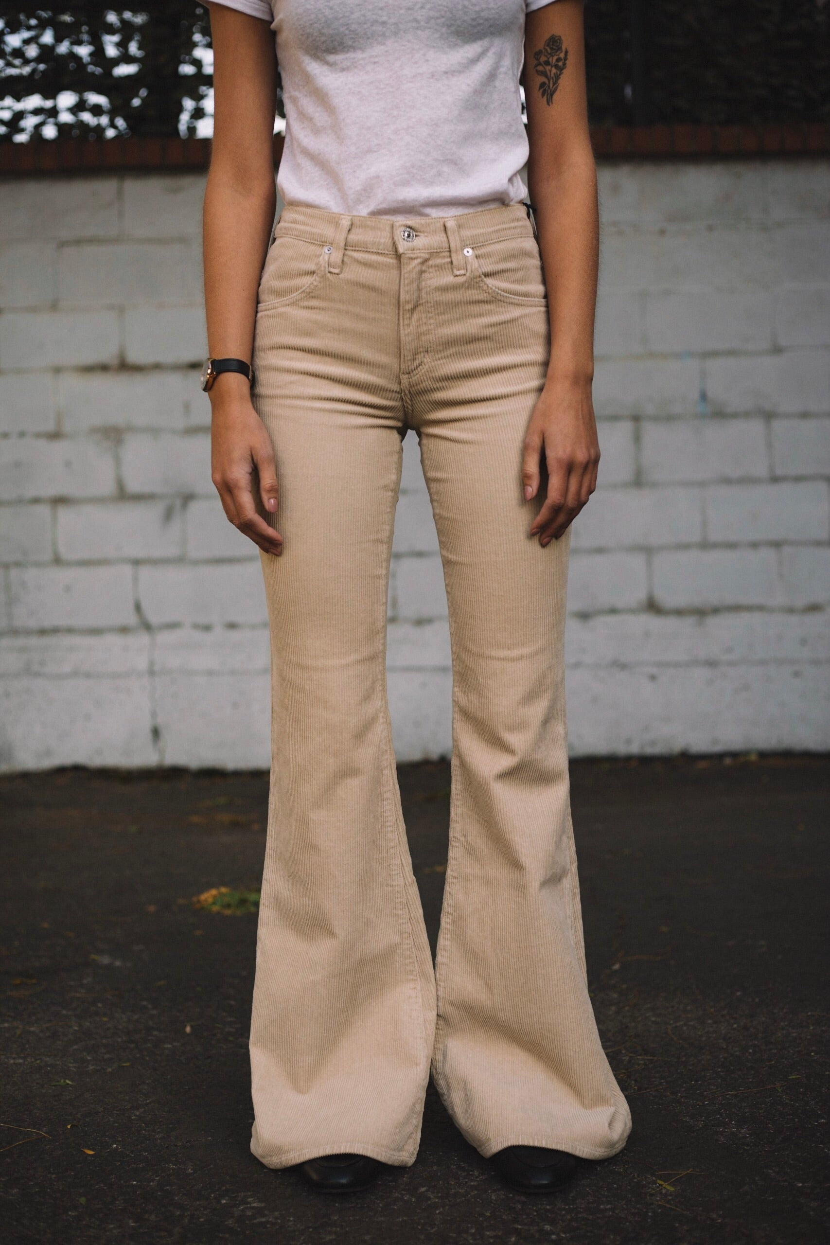 dd57472d911 Citizens of Humanity Chloe Super Flare in Camel Corduroy - ARTISAN DELUXE
