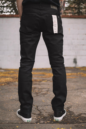 HENLEY BLACK RAW STRETCH