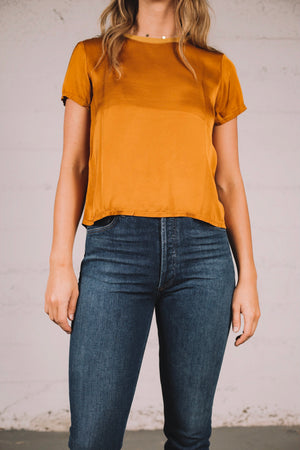 MARIE SATEEN BOXY CROP