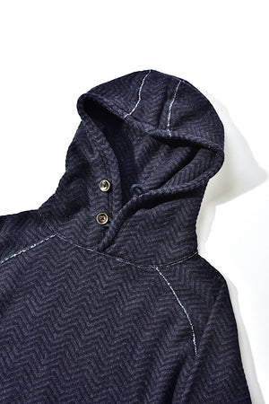KNITTED JACQUARD HOODIE