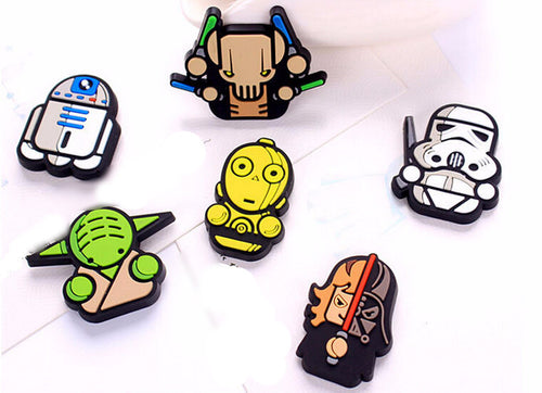 NEW - 6 Pack Star Wars Collectible Fridge Magnets