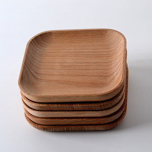 Small Square Wooden Platter