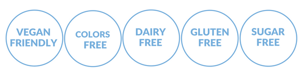 DAIRY FREE STAMPS blue