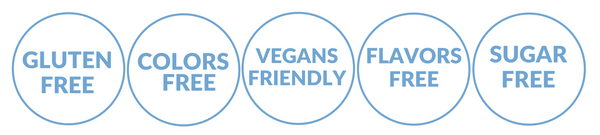 DAIRY FREE STAMPS flora blue