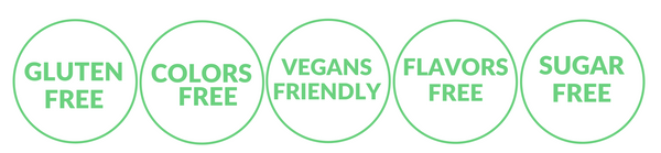 DAIRY FREE STAMPS green