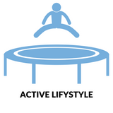 active lifestyle blue