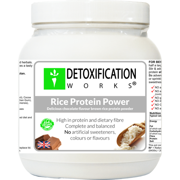 Rice Protein Power (Chocolate natural flavor) - Detoxification Works ®