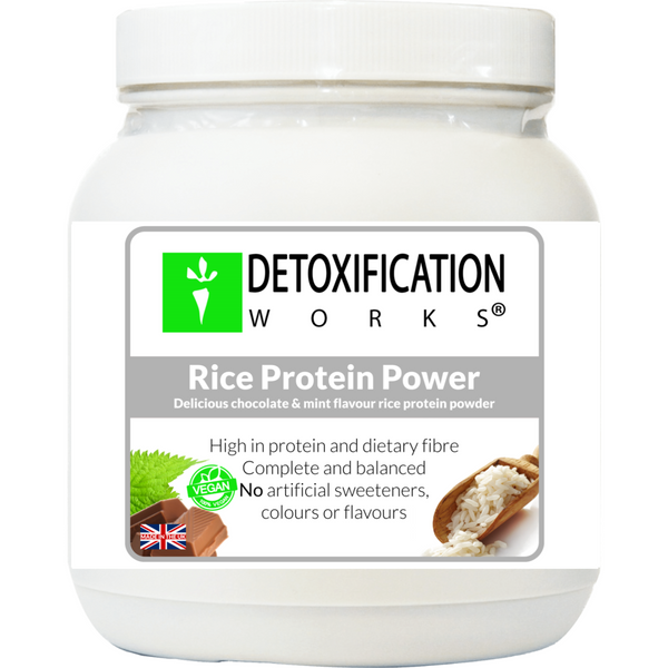 Rice Protein Power (Chocolate & Mint natural flavors) - Detoxification Works ®