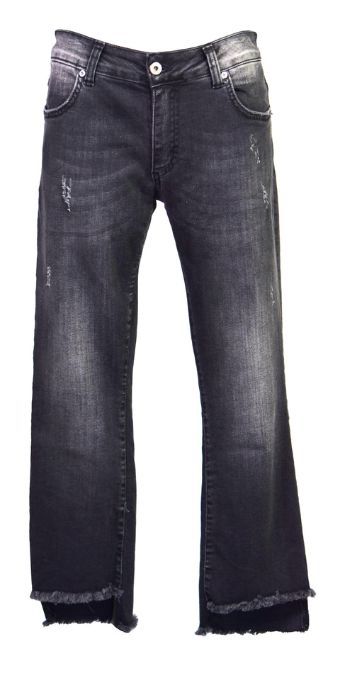 Straight mid-rise straight-leg jeans