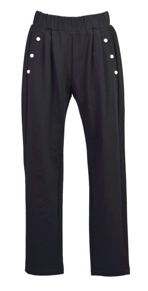 Pearl cotton-jersey track pants
