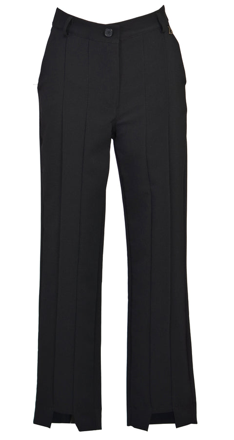 Stretch-cotton twill slim-leg pants