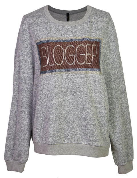 The embroidered cotton-blend jersey sweatshirt