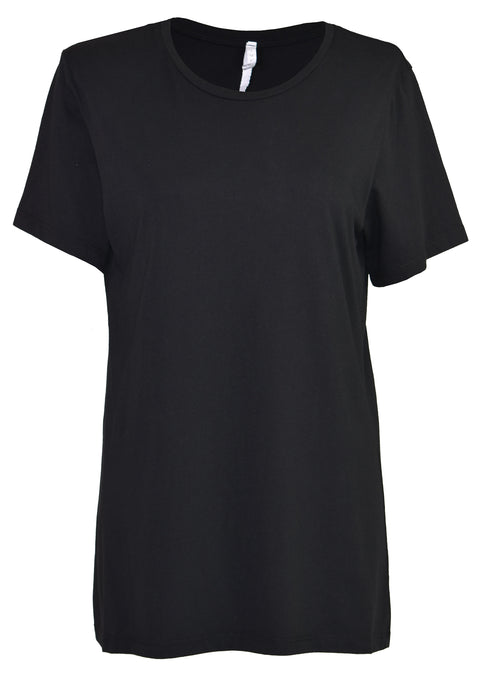 All black cotton-jersey T-shirt