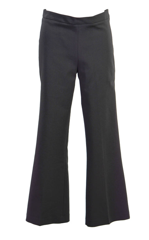 Cropped crepe flared pants