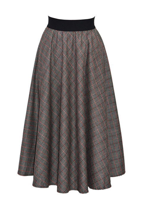 Wool-blend tweed midi skirt