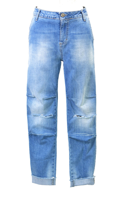 High-rise straight-leg denim jeans