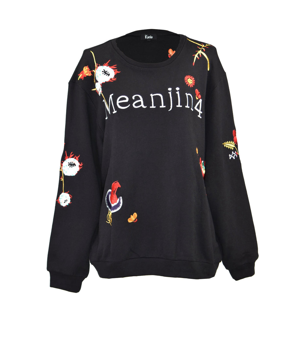 Embroidery printing loose cotton-sweatshirt