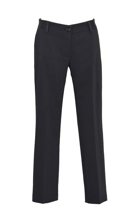 Cropped crepe straight-leg pants