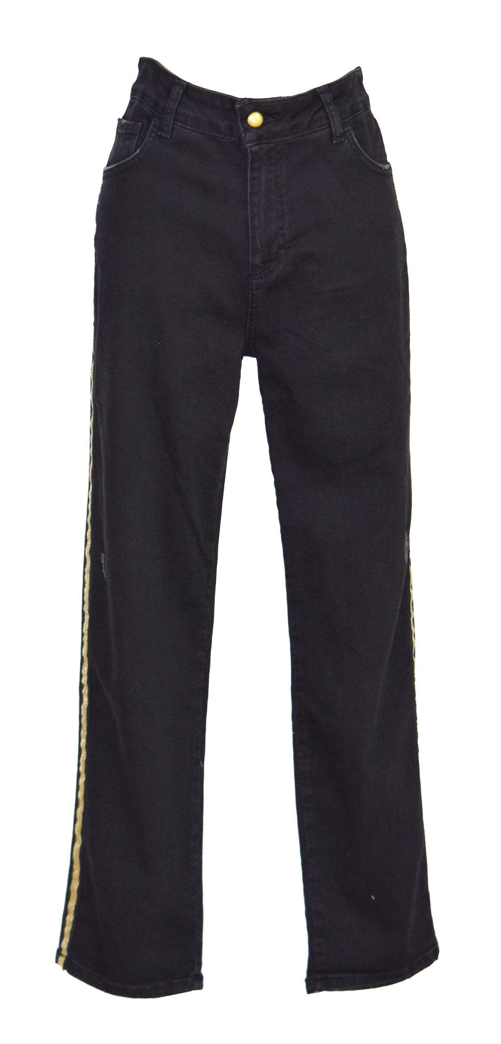 Summer cropped high-rise straight-leg jeans