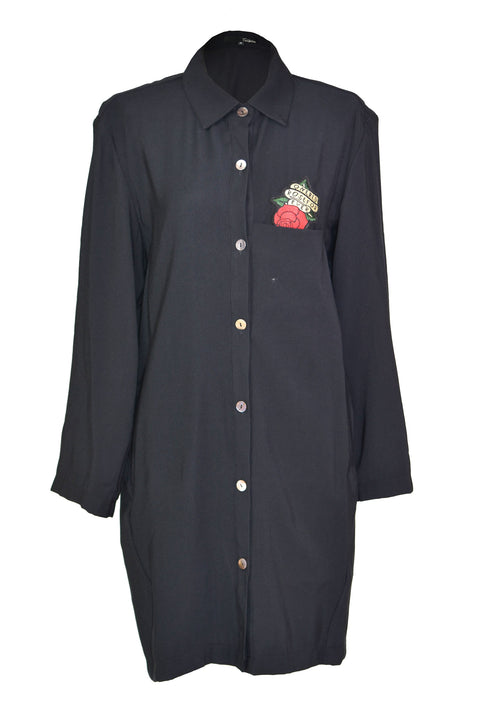 Loose classic embroidery long-shirt