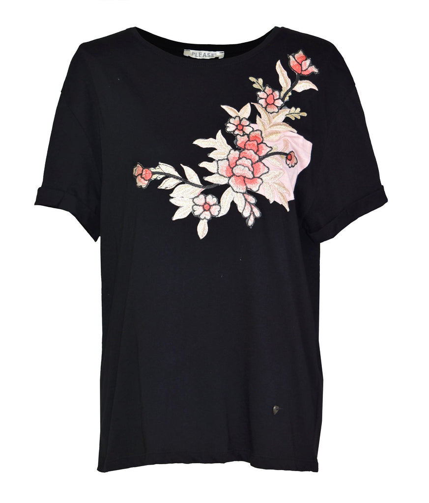 Embellished printed cotton-jersey T-shirt