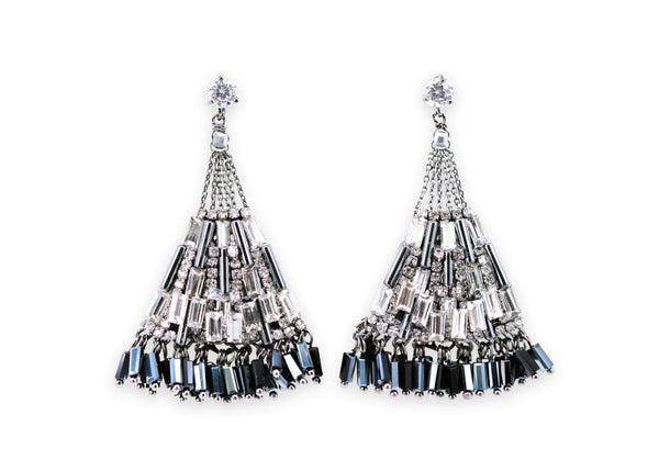 Fashion queen sparkling crystal drops