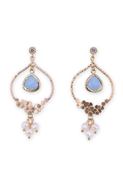 Antique style teardrop statement earrings