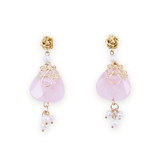 Rosy love delicate gem drops