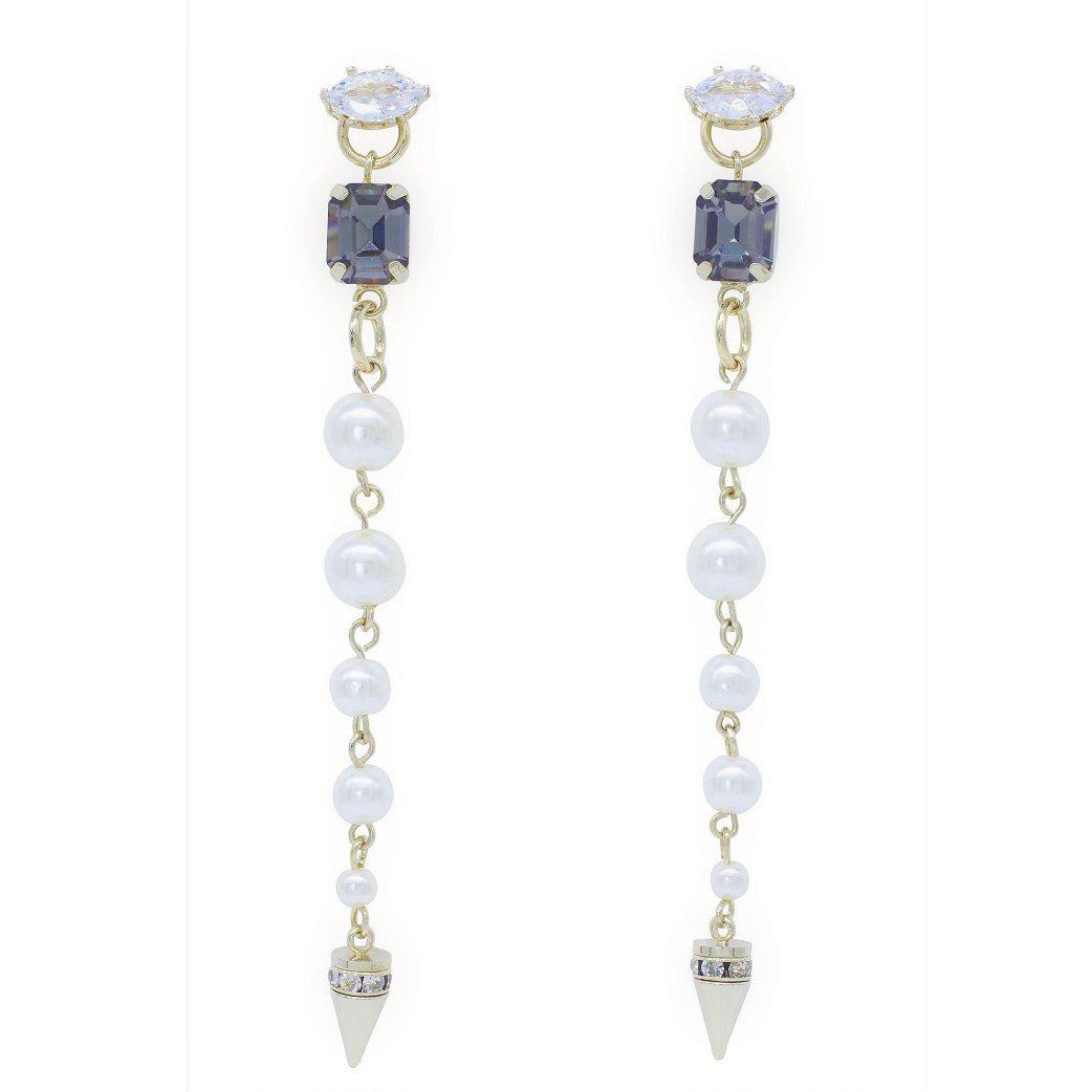 Modern queen panache pearl and crystal drops