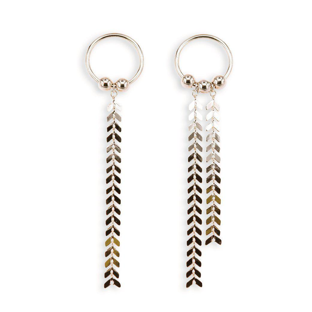 Golden osier tassel statement earrings