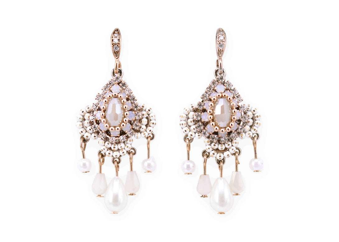 Vintage style deluxe crystal drops