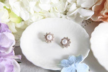 Virgin love sunflower pearl studs