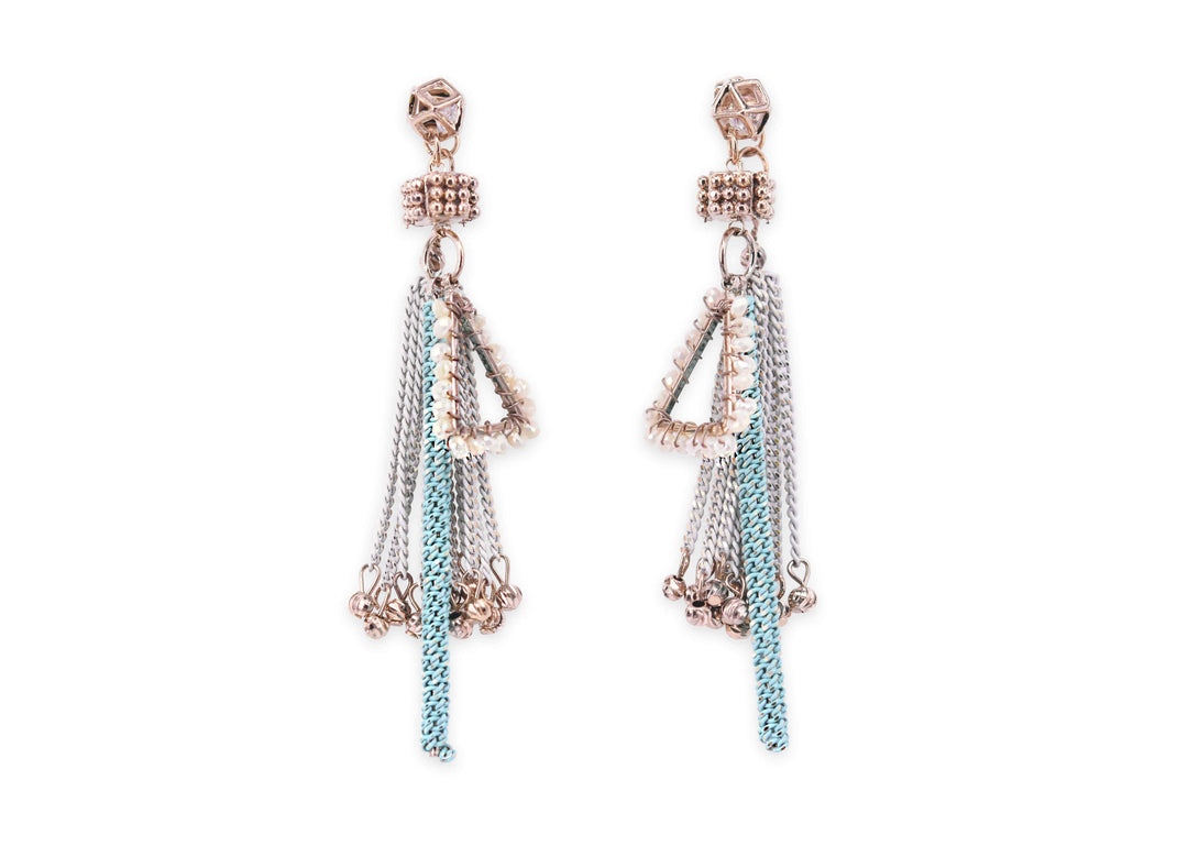 Boho wind braid tassel earrings