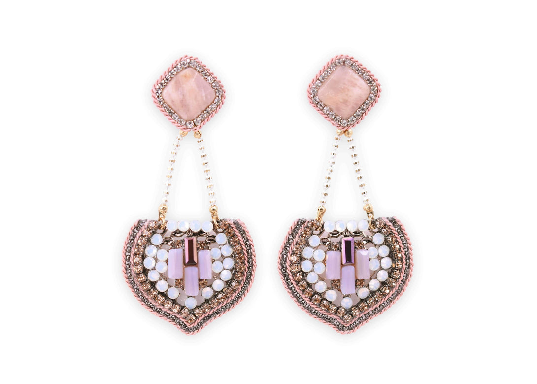 Pink vintage style crystal drops