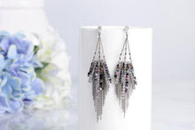 Luxurious cubic crystal drop earrings