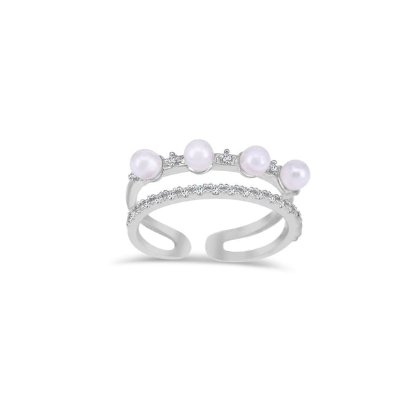 Queen's Silver Pearl Ring