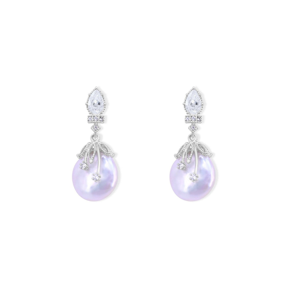 Brilliance Set Pearl Style Drops In Sterling Silver