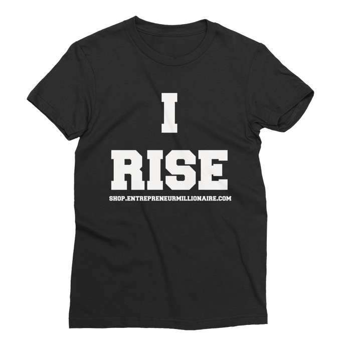 I Rise Short Sleeve Women's T-Shirt Black