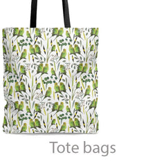 tote bags with parrot designs
